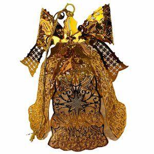 Danbury Mint 24k gold Christmas ornament bell bow